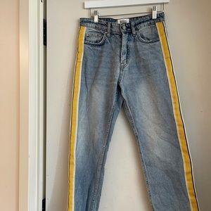 Zara Authentic Denim Side Stripe Jeans